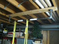 Pipe Pull Bar Hang From Ceiling Make Your Own