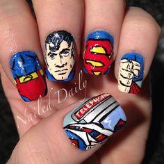Instagram photo by  jvnaildesign - Superman #nailart #manicure