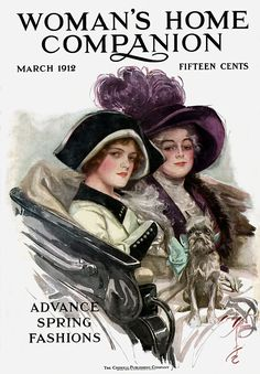 """""""Passing Glance"""" illustration by Harrison Fisher, Woman's Home Companion cover, March 1912."""