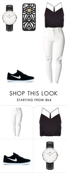 """""""Untitled #785"""" by daniela-rosario ❤ liked on Polyvore featuring (+) PEOPLE, NIKE, Daniel Wellington and Hervé Léger"""