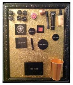 DIY - Create your own magnetic make up board! See these easy step by step instructions on what to buy, where to buy it and how to put it all together. ~www.eightbyfive.com