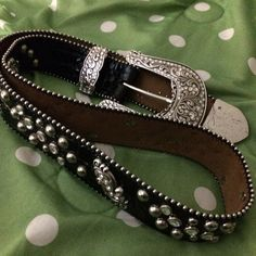 Justin boots anniversary edition silver pltd belt Silver plated nickel anniversary edition genuine leather new vintage unused genuine Swarovski crystals silver studded black patent front side engraved design quality top designer designed belt this belt is so beautiful detailed quality stamped dated underside anniversary edition limited a statement itself for the finer accessories for the finest dresser Justin boots Accessories Belts