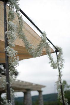 Babys breath (Gypsophila) decoration - Lenox wedding at Elm Court Estate by Carla Ten Eyck