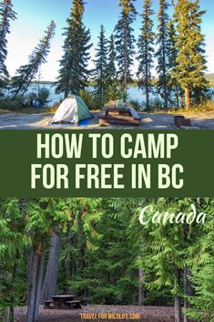 Are you looking for free camping in BC, Canada? With over a thousand recreation sites in this Canadian province you can camp in many of them for free. You just need to know how to look for them. Here is how to find free campsites. Winter Camping, Go Camping, Camping Hacks, Camping Hammock, Travel Hacks, Camping Ideas, Budget Travel, Travel Tips, Canada Travel