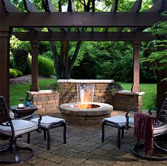 Firepits and Grill Kits This is what I want hubby to build for me in back yard.