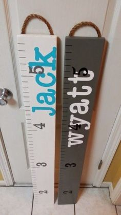 GROWTH CHART / Painted Wooden Ruler Growth Chart / by Growth Chart Ruler, Growth Charts, Height Ruler, Wooden Ruler, Kids Wood, Shower Gifts, Wooden Signs, Baby Love, Diy For Kids