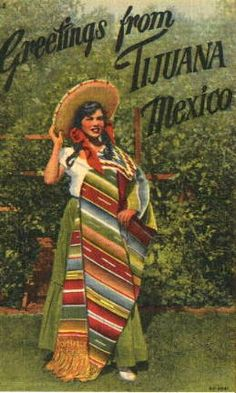 mexican postcards Vintage