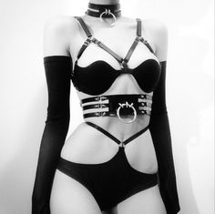 creepyyeha:  Rocking Hopeless Lingerie and Creepyyeha Caged Tahliah Belt and unreleased Choker and Bra
