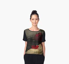 """""""Sonata in Roses"""" by ChrisArmytage™ Chiffon Tee, beautiful designer fashion by ChrisArmytage™ buy online at: http://www.redbubble.com/people/chrisarmytage/collections/534621-chiffon-tops"""