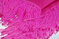 Cashmere Shawl with beaded fringe WWW.KUMARIS.CA