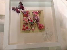 Personalised Initial Frame by MadebyLynnwithLove on Etsy