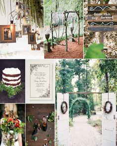 Woodlands and Forest Wedding Decorations >> http://www.yesbabydaily.com/blog/a-woodlands-wedding