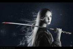 Samurai by on DeviantArt Dark Reaper, Sword Poses, Female Samurai, Men Photoshoot, Japanese Sword, Braveheart, Katana, Feature Film, Martial Arts