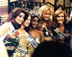 1977 Miss Universe Janelle Commissiong (Trinidad/Tobago) and her court Beautiful Inside And Out, Most Beautiful, Miss Universe Swimsuit, Miss Lebanon, Miss Philippines, Beauty And The Best, Hawaiian Tropic, Miss Usa, Iconic Women