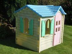 vintage little tikes child sized hutch, china cabinet, pretend