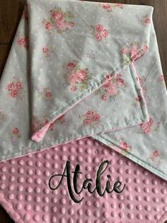 Shabby Chic Quilt Patterns, Shabby Chic Quilts, Cute Blankets, Baby Girl Blankets, Car Blanket, Lovey Blanket, Personalized Baby Blankets, Personalized Items, Burp Cloth Set