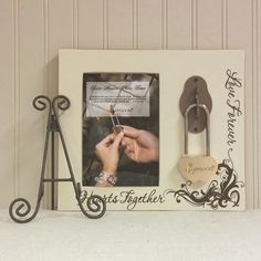 Love Lock & Photo Frame $39.99 Locks once with no key. Perfect made for the unity ceremony.