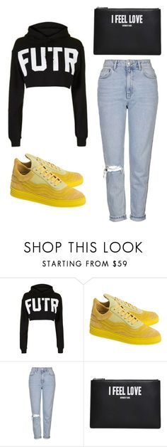 """""""Outfit Idea by Polyvore Remix"""" by polyvore-remix ❤ liked on Polyvore featuring Filling Pieces, Topshop and Givenchy"""