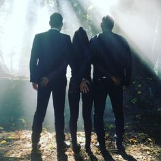 Lucifer ~ Season 2: Lucifer, Maze & Amenadiel:  leslieannbrandt - Monday. Be. There.