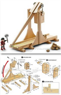 Toy Catapult Plans - Children's Wooden Toy Plans and Projects | WoodArchivist.com