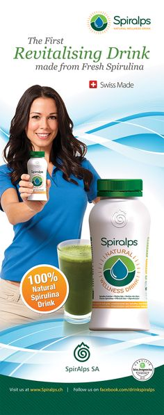 Spiralps: The First Revitalising Drink made from Fresh Spirulina - www.spiralps.ch