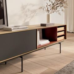 Built In Furniture, Cabinet Furniture, Furniture Design, Console Table Living Room, Dinning Table, Element Tv, Tv Entertainment Units, Lobby Design, Tv Cabinets