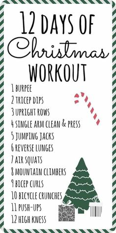 Workouts For Teens, Fun Workouts, At Home Workouts, 12 Days Of Christmas, Christmas Fitness, Holiday Workout, Bicycle Crunches, Boot Camp Workout, Say More