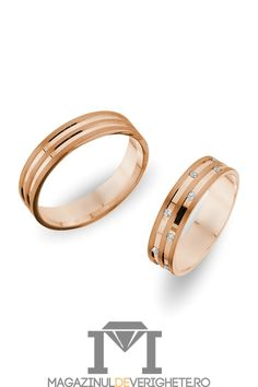 Verighete aur roz 5.5mm MDV 631 PINK #verighete #verighete5mm #verigheteaur #verigheteaurroz #magazinuldeverighete Aur, Bangles, Bracelets, Wedding Rings, Engagement Rings, Pink, Jewelry, Diamond, Enagement Rings