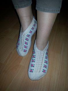 Handmade Knitted SocksKnitted Slippers Women Unique от SAHBAZAAR