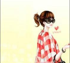 Twice Korean Anime 2 happy girl Cute Korean, Korean Girl, Girl Character Names, Korean Illustration, Illustration Art, Illustrations, Korean Anime, Korean Couple, Anime Japan