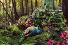 fairytale_forest_house_by_ignisfatuusii-d6iy299.jpg (1024×683)