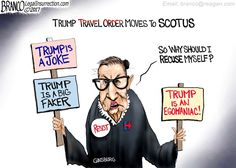 Left wing judges claim they can rule on matters of law based on campaign rhetoric. Does that mean a judge who is overtly political should recuse themselves? The Left says no but cartoonist A.F. Branco is not so sure.
