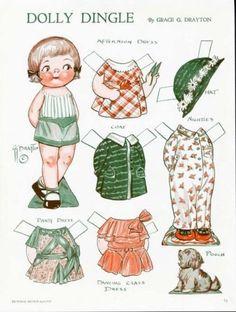 Dolly Dingle Grace Drayton Paper Dolls April 1933 | eBay