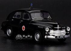 Gift for boy 1:43 11cm Warsaw bubble car M20 KOLEKCJA PRL-U ambulance alloy model desk collection toy free shipping