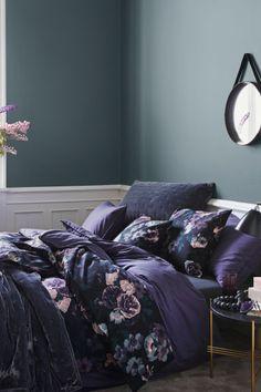 Virágmintás ágyneműhuzat szett - Lila/virágos - HOME | H&M HU