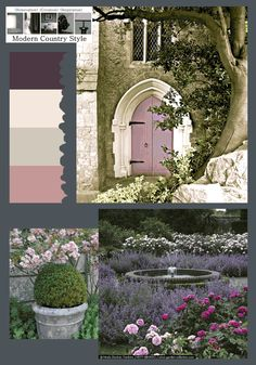 Modern Country Style: The Best Front Door Paint Colours: Dusky Purples Click through for details. Best Exterior Paint, Exterior Paint Colors, Paint Colours, Front Door Paint Colors, Painted Front Doors, Cinder Rose Farrow And Ball, Purbeck Stone, Best Front Doors, Modern Country Style