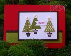 Stampin up pennant parade Christmas card