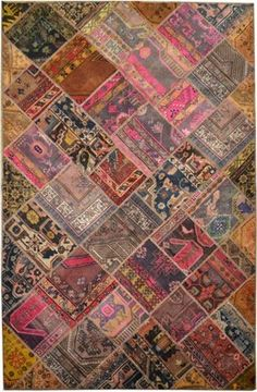 Hand Knotted Oriental Area Rug Persian Patchwork