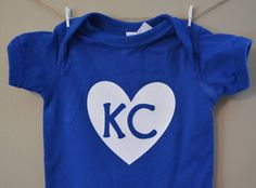 Baby onesie KC baby onesie Kansas City baby by EclecticBadger