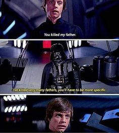 He actually said this in a Star Wars comic