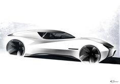 Espada by Qvaka Car Design Sketch, Car Sketch, Jaguar Xj13, Yacht Design, Futuristic Design, Cool Sketches, Car Drawings, Transportation Design, Automotive Design