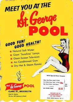 St. George Pool, Brooklyn NY 1950s