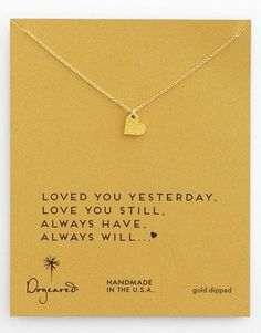 Dogeared Sparkle Heart Boxed Pendant Necklace | We're all about delicate jewelry (and layering it!) - and this necklace by Dogeared is the perfect choice - or perfect gift. via @stylelist