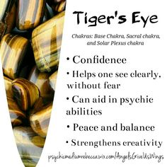 Tiger's eye benefits