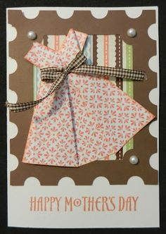 Even More Scrapping!: Origami Dress Card
