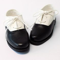 Black & White School Shoes for Volks BJD Doll, SD 13 Boy, Delf Boy S00044A