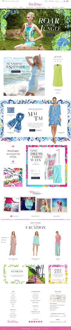 Lilly Pulitzer by Dana Richards, via Behance