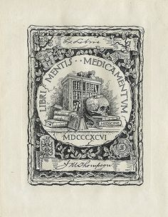 [Bookplate of J.M. Thompson] by Pratt Libraries, via Flickr