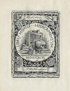 [Bookplate of J.M. Thompson] by Pratt Libraries, via Flickr