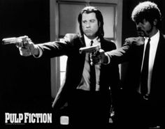 Pulp Fiction - Black and White Guns - Official Mini Poster